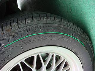 タイヤメーカーの表記